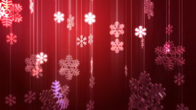Festive Glass Snowflake Baubles stock video