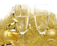 Festive glasses of champagne Stock Photo