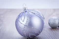Festive glitter christmas decoration Stock Photography