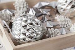 Festive glitter christmas decoration bauble seasonal winter holidays Stock Photography