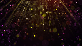Festive glitter particles in light rays. Computer generated Holiday abstract background Stock Photo