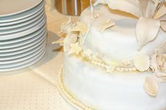 Festive glittering cake as royal lady's hat Stock Photos
