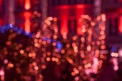 festive glittering defocused red background Stockfotos