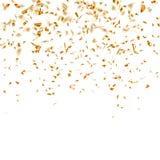 Festive glittering gold confetti falling. EPS 10 Stock Image
