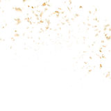 Festive glittering gold confetti falling. EPS 10. Vector file included Royalty Free Stock Images