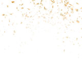Festive glittering gold confetti falling. EPS 10 Royalty Free Stock Photos