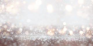 Festive glittering silver bokeh background Royalty Free Stock Photos