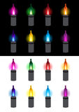 Festive glowing light bulbs. Illustration Royalty Free Stock Photos