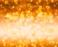 Festive gold abstract background with bokeh and sparkle. Empty space for the text vector illustration