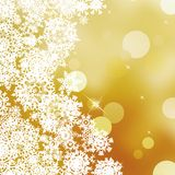 Festive gold Christmas with bokeh lights. EPS 10 Royalty Free Stock Photography