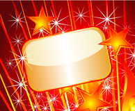 Festive Gold Plate. Glod Plated Text Field plate for Festive announcement Royalty Free Stock Photography