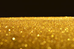 Festive gold sequins background Stock Photo
