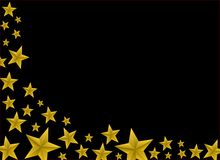 Festive Gold Star Background Stock Image