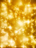 Festive golde bokeh lights vector background Stock Photo