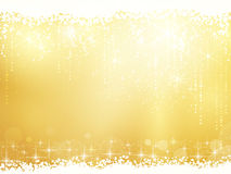 Festive golden background. Golden background for Christmas and other festive occasions. Sparkling stars give it a magical feeling for the festive season to come Stock Photo