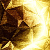 Festive golden background. Fancy metallic gold backdrop. Polygonal geometric texture. Low poly style Royalty Free Stock Photos