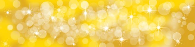 Festive Golden Background. Fesitve Golden Christmas or Birthday Background Stock Photography