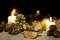 Festive golden christmas decoration Stock Photography
