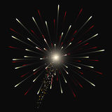 Festive Golden Firework Salute Burst on Transparent Background. Vector illustration. Festive Golden Firework Salute Burst on Transparent Background Royalty Free Stock Photography