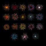 Festive Golden Firework Salute Burst. Vector Illustartion Royalty Free Stock Photography