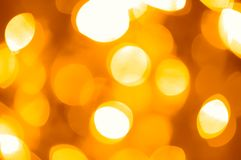 Festive golden lights Royalty Free Stock Photos