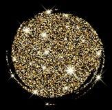 Festive golden luminous background. Black festive golden luminous sandy background. Vector illustration Royalty Free Stock Photos