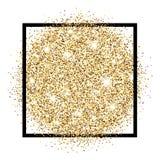 Festive golden luminous background. White festive golden luminous sandy background. Vector illustration Stock Images