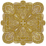 Festive golden ornament. Beautiful, detailed festive golden ornament royalty free illustration