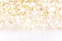 Festive golden and white Background with snow, concept silvester. Festive golden and white Background with snow, concept christmas or silvester Stock Image