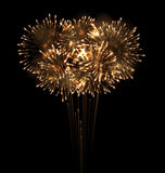 Festive Grandiose Firework Explode Bursting Sparkling Royalty Free Stock Photo