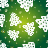 Festive green background. With fir tree and snowflake Stock Image