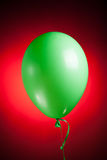 Festive green balloon Royalty Free Stock Photos