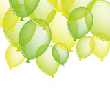 Festive green balloons. Vector background Stock Photography