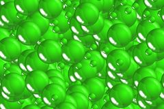 Festive green scales and bubbles celebratory design Stock Images