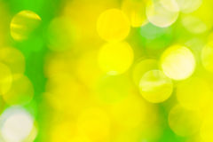 Festive green and yellow bokeh Stock Photography