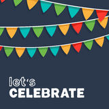 Festive greeting card design Stock Image