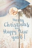 Festive Greeting Card Merry Christmas and Happy New Year royalty free stock images