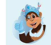 Festive greeting. Monkey symbol of the new year Royalty Free Stock Photos