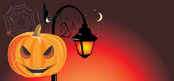 Festive Halloween banner Stock Photo