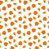 Candy Corn and Pumpkin Seamless Pattern stock illustration
