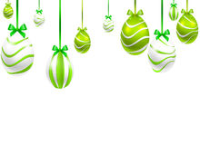 Festive Hanging painted Easter eggs Stock Photography