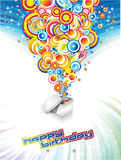 Festive Happy Birthday Background Royalty Free Stock Photos