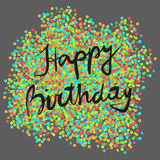 Festive happy birthday. Background with colorful confetti, eps 10 Stock Images