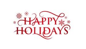 Free Festive Happy Holidays Text With Flourishes Stock Photos - 155393113
