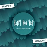 Festive Happy New Year design. Festive Happy New Year label design. Stylized pattern background. Trendy handwritten lettering. Vector elements Royalty Free Stock Image