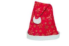 Festive headgear for Santa Claus. Stock Images