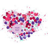 Festive heart from multi-colored splashes. Vector illustration Royalty Free Stock Photo