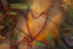 Festive Heart Shape - Background Royalty Free Stock Photography
