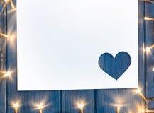 Festive heart shaped Valentine day cut paper Stock Photo
