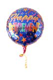 A festive helium balloon. Festive helium balloon with Happy Retirement written on it Stock Photo
